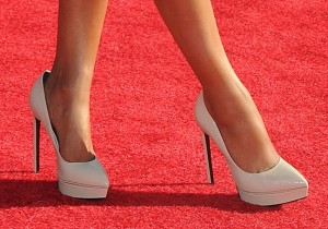 Celebrities in high heels