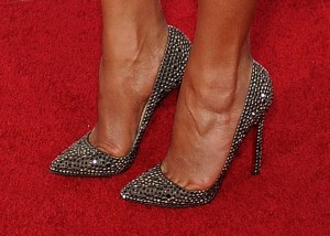 Chrissy Teigen in high heels