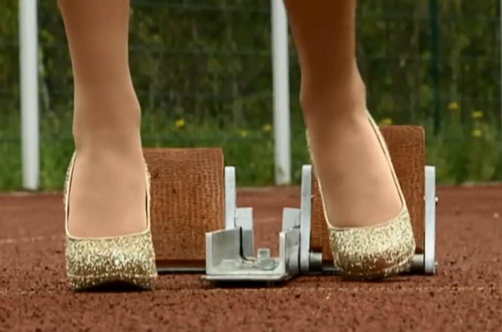 Natalie Eckert managed to finish the 2015 London Marathon in high heels