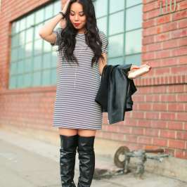 How to wear over the knee boots casually
