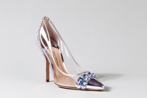 Top designers create Cinderella's glass slippers