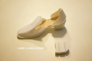 Lung x Lung makes 3D printed shoes with interchaneable high heels
