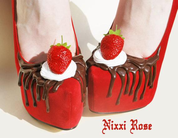 Strawberry high heels