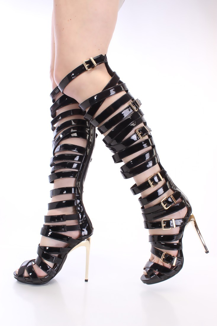 High Heel Gladiator Boots