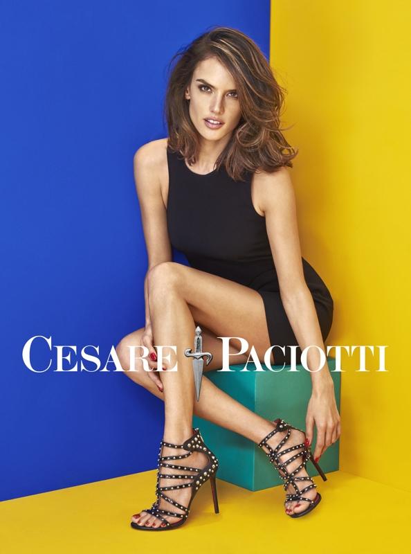 Alessandra Ambrosio Cesare Paciotti heels