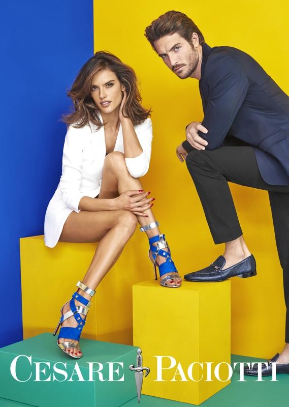 Alessandra Ambrosio Cesare Paciotti high heels