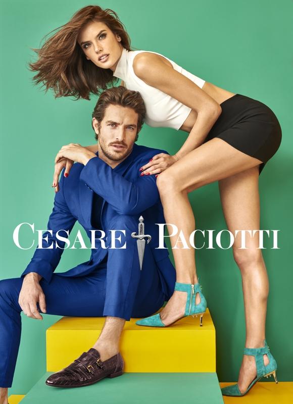 Alessandra Ambrosio Cesare Paciotti SS16