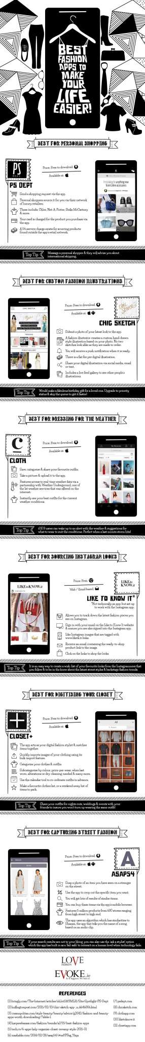 Best Fashion Apps Infographic