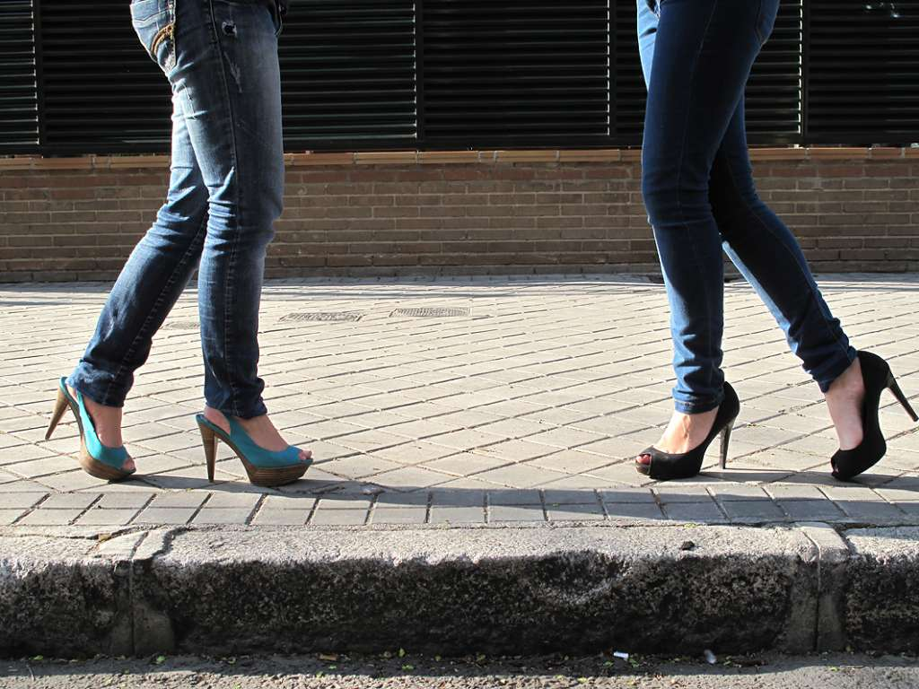 Platform high heels