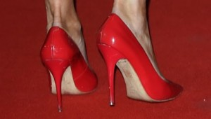 Lizzie Cundy in high heels