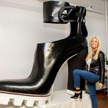 Kenneth Cole just made the largest high heels in the world