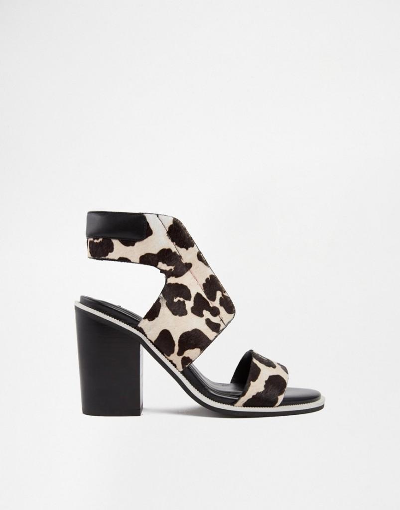 Senso Riley Leopard Pony Heeled Sandals
