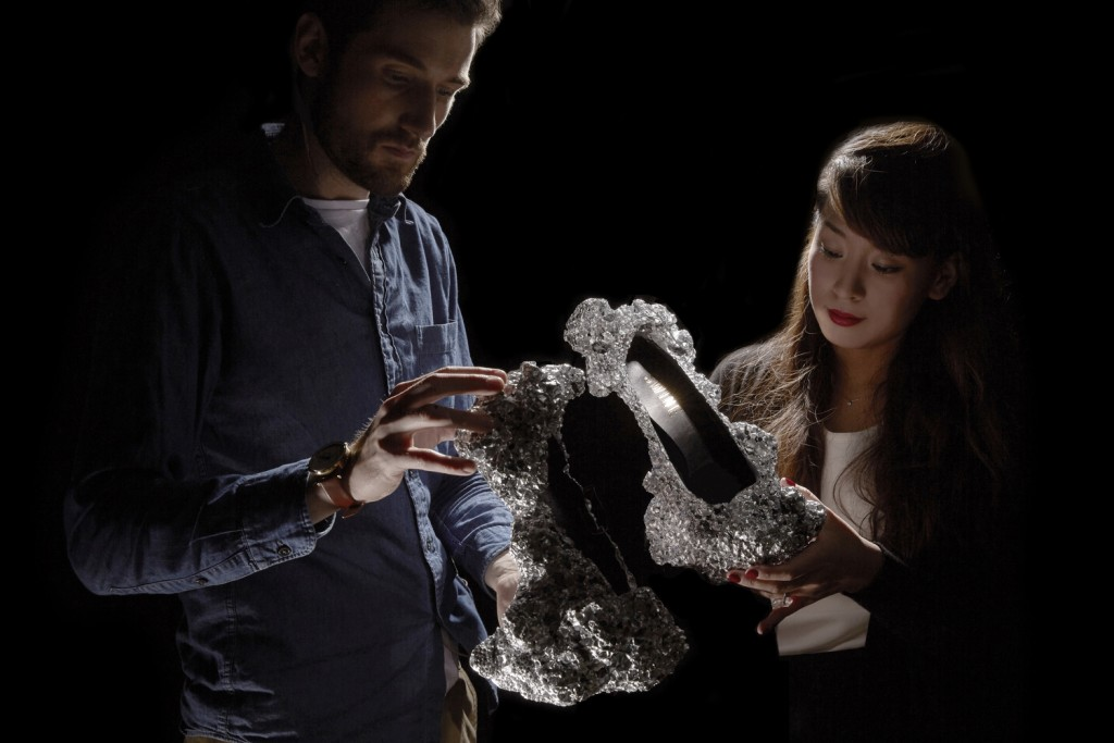 Science and high heels join forces - SWINE creates Meteorite Shoes