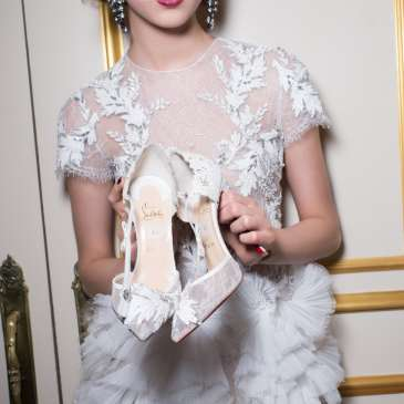 Check out Christian Louboutin's Fall 2015 collection debut for Marchesa