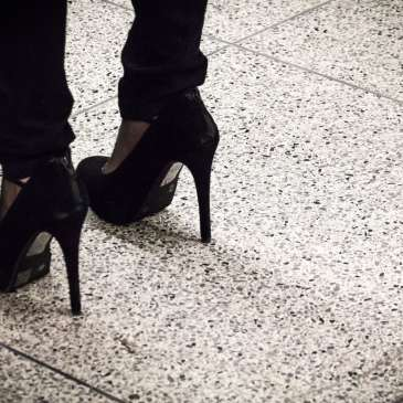 30-year-old corporate man wears high heels to work and here's why