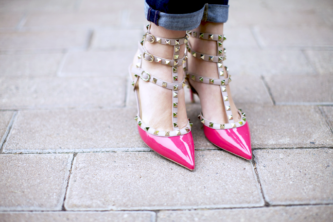Valentino's Rockstud high heels are becoming a trend