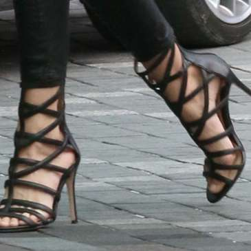 Carolinna Espinosa Sari Gladiator Heels become a favorite of celebrities