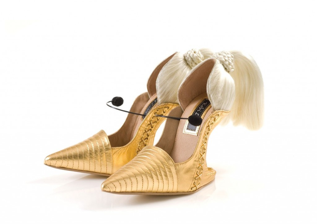 Who is the designer who makes Lady Gaga's crazy high heels