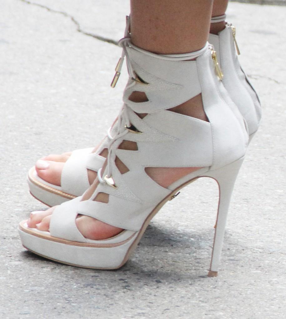 Zendaya shows off her new high heels line