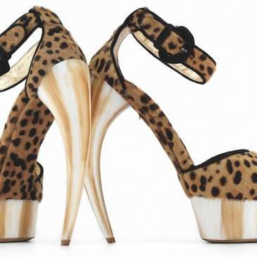 Check out some of the crazy high heels from the new high heel exhibit