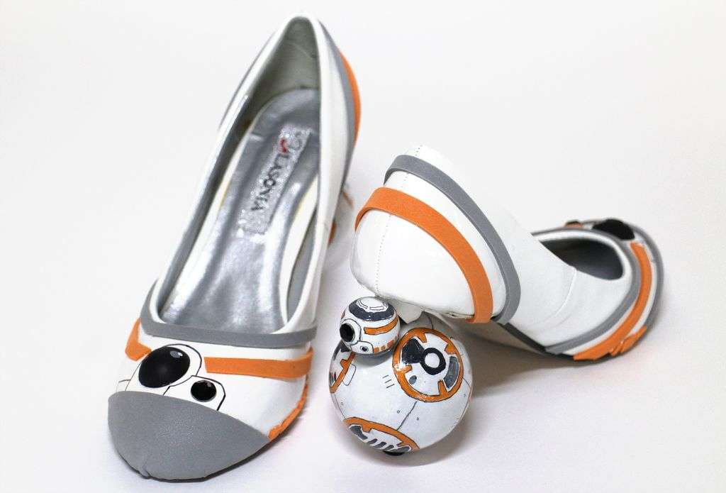 These DIY BB-8 high heels are the ultimate for every Star Wars fan