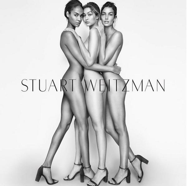 Gigi Hadid, Lily Aldridge and Joan Smalls rock the latest even more provocative Stuart Weitzman ad