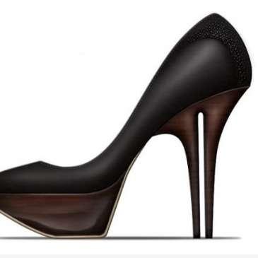 Designer Christopher Dixon creates dual-heeled shoes