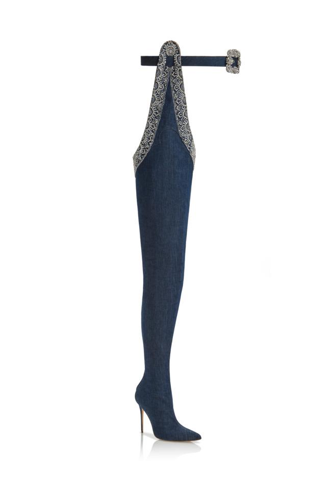 Rihanna and Manolo Blahnik's thigh high boots