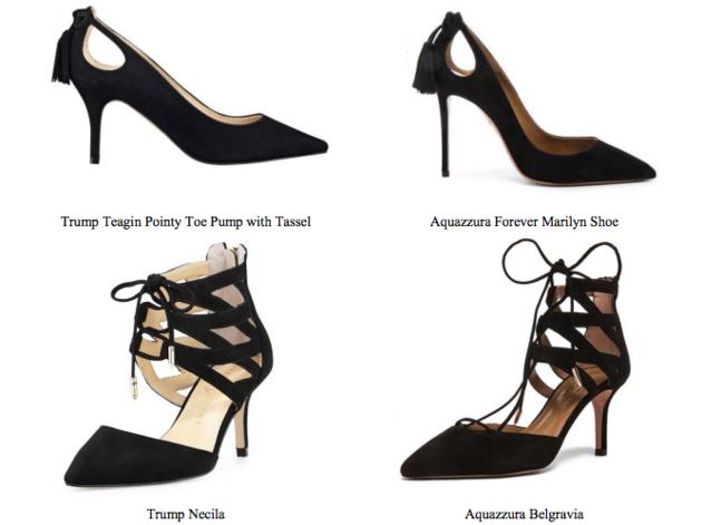 Aquazzura and Trump's high heels