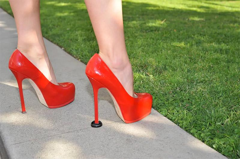 These little things can allow you to wear high heels in the grass and on grids